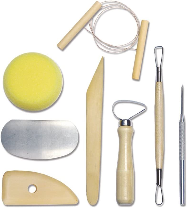 Wartoon 24Pack Sculpting Tools with Reusable Pouch for Polymer Clay Pottery Ceramic Art Craft