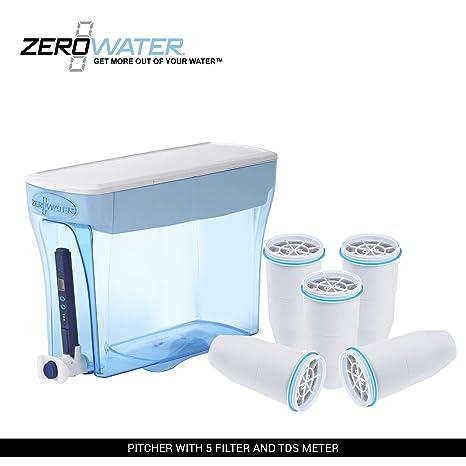 ZeroWater zd-018 23-cup dispensador de sistema de filtración de agua + filtro