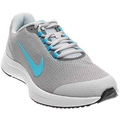 NIKE Men's RunAllDay Running Shoe, Pure Platinum/Chlorine Blue/Black, 10 D
