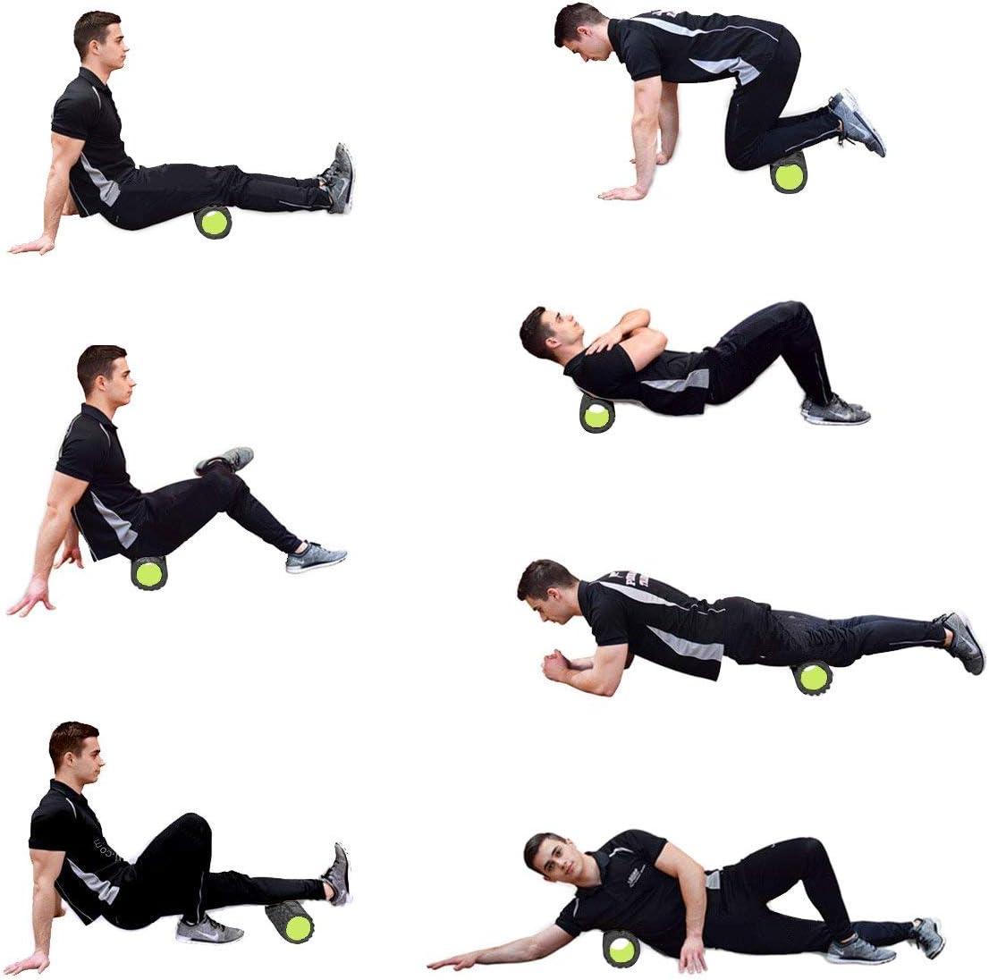 REEHUT Fitness Rodillo de Espuma 2-en-1 para Puntos Desencadenantes y Masaje para M/úsculos Dolorosos M/úsculos Tensos Rodillos Lisos