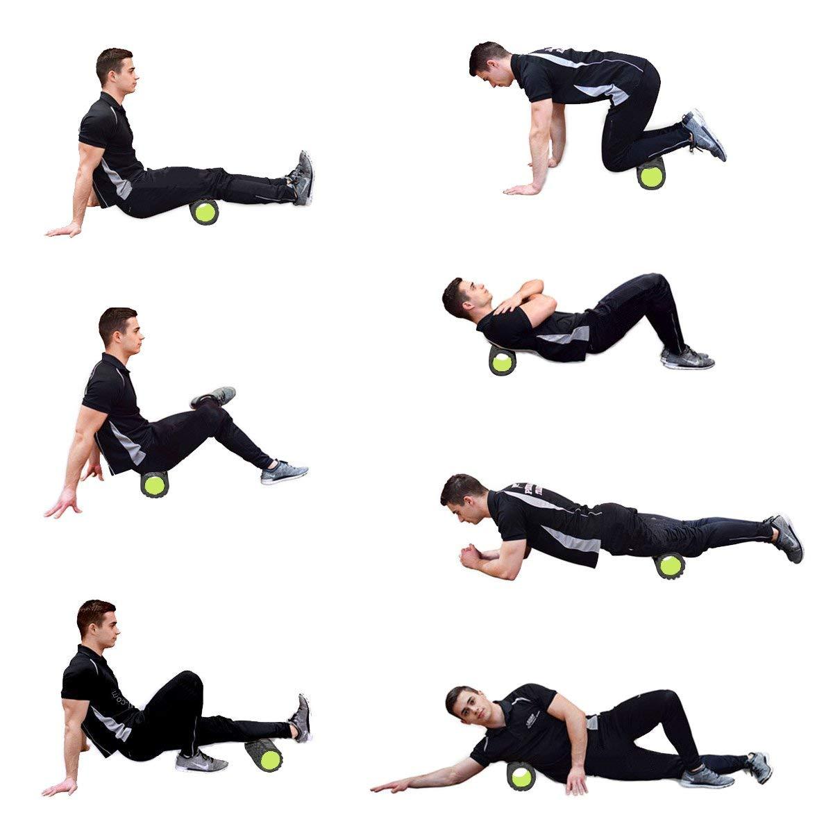 REEHUT Rullo Ortopedico Ergonomico Eva 2 in 1 per Massaggi Riabilitazione Scioglimento Punti Trigger Miofasciali con Custodia e Manuale Elettronico