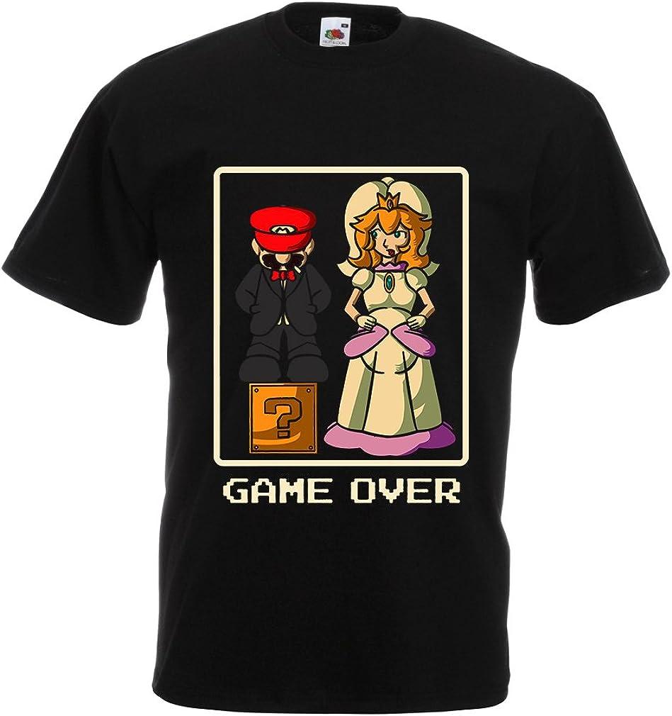 lepni.me Camisetas Hombre ¡Juego Terminado! Muestra Casada, Ideas Divertidas para Regalos de Boda