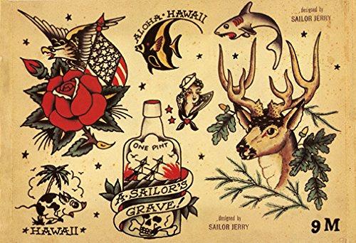 Sailor Jerry Tattoo Art Flash #4   13 x 19 Photo Print