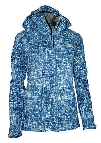 The North Face Women's Novelty Venture Full Zip Hooded Waterproof Rain Jacket (Estate Blue, ()