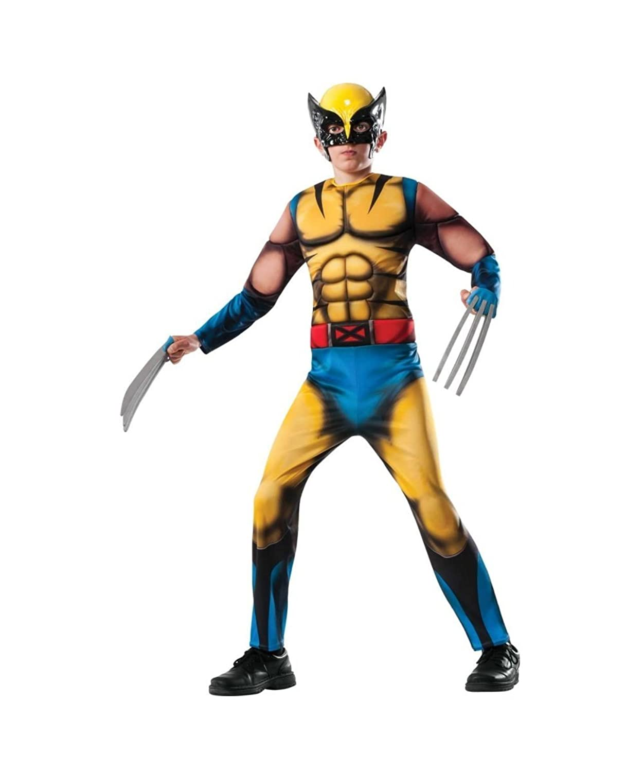 Marvel Wolverine X?men Superhero Boys Halloween Costume deluxe  sc 1 st  Amazon.com & Amazon.com: Deluxe Wolverine Costume Child Costume (Medium 8-10 ...