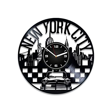 DecorStudioUA New York Vinyl Clock Birthday Gift Xmas Record Wall