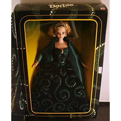 1996 Limited Edition Emerald Enchantment Blonde Barbie Doll: Toys & Games