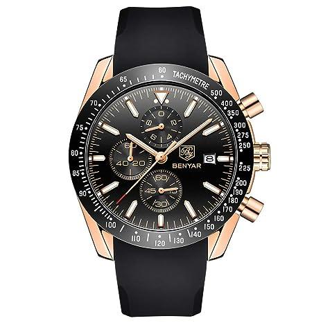 XBKPLO Mens Quartz Watch,Sport Multifunction Waterproof Luxury Six Pin Analog Wrist Calendar Window Watches