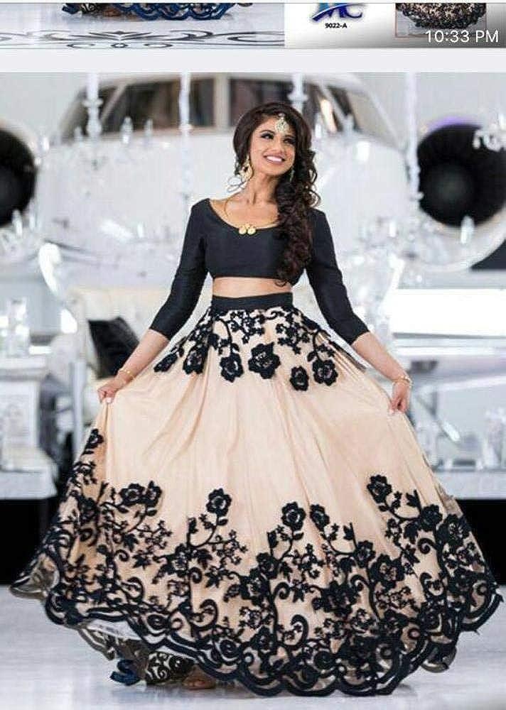 d66719d8ea REKHA Ethinc Shop Latest Bridal Embroidery Indian Designer Lehenga Choli  Dupatta A398 at Amazon Women's Clothing store: