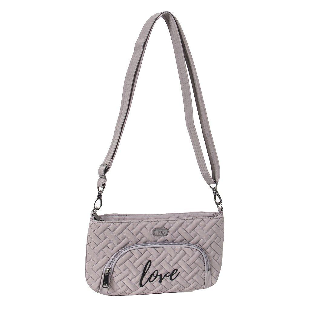 Lug Women's Flyer Mini Cross Body Bag, Pearl Grey, One Size