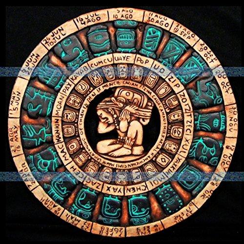 Mayan Calendar Maya Aztec Plaque Mexico Mexican Pottery Home Decor Ancient Art -