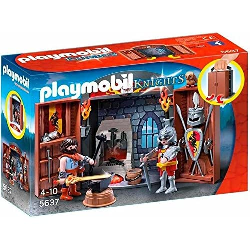Playmobil Knights - 5637- Coffre Chevalier Et Forgeron
