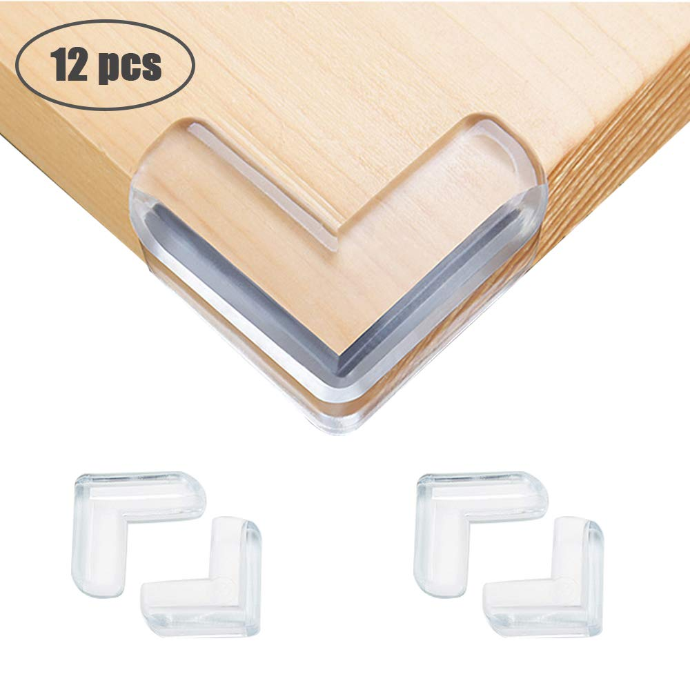 adecuada para beb/és y ni/ños 12pcs de esquina de seguridad angulares e inodoros en forma de L cinta autoadhesiva 3M para esquinas de mesas y muebles DMSL Protector de esquina transparente para ni/ños