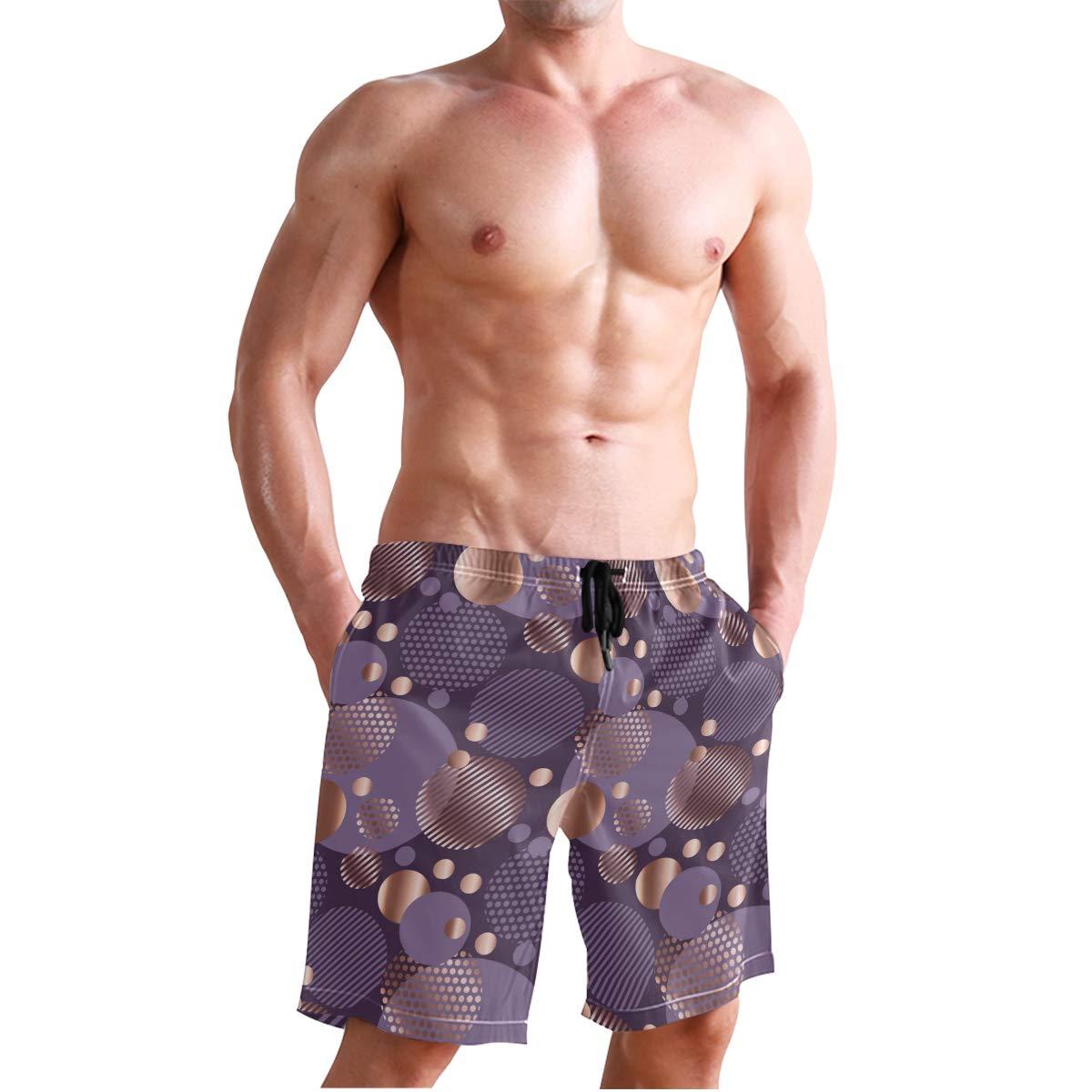 KVMV Romantic Teenager Love Sign Hearts On Grunge Stripes Lines Quick Dry Beach Shorts