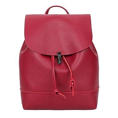 8edfba48020ec YOUBan Damen Rucksack Vintage Pure Farbe Rucksäcke Schultasche aus Leder Tasche  Schulranzen Frauen Reise Umhängetasche Handtasche