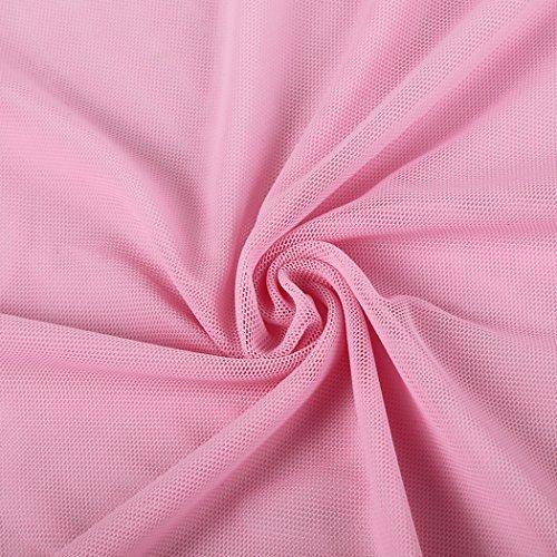 BMAKA Pijama Lencería Picardías de Encaje y Tanga a Juego para Mujer Rosa