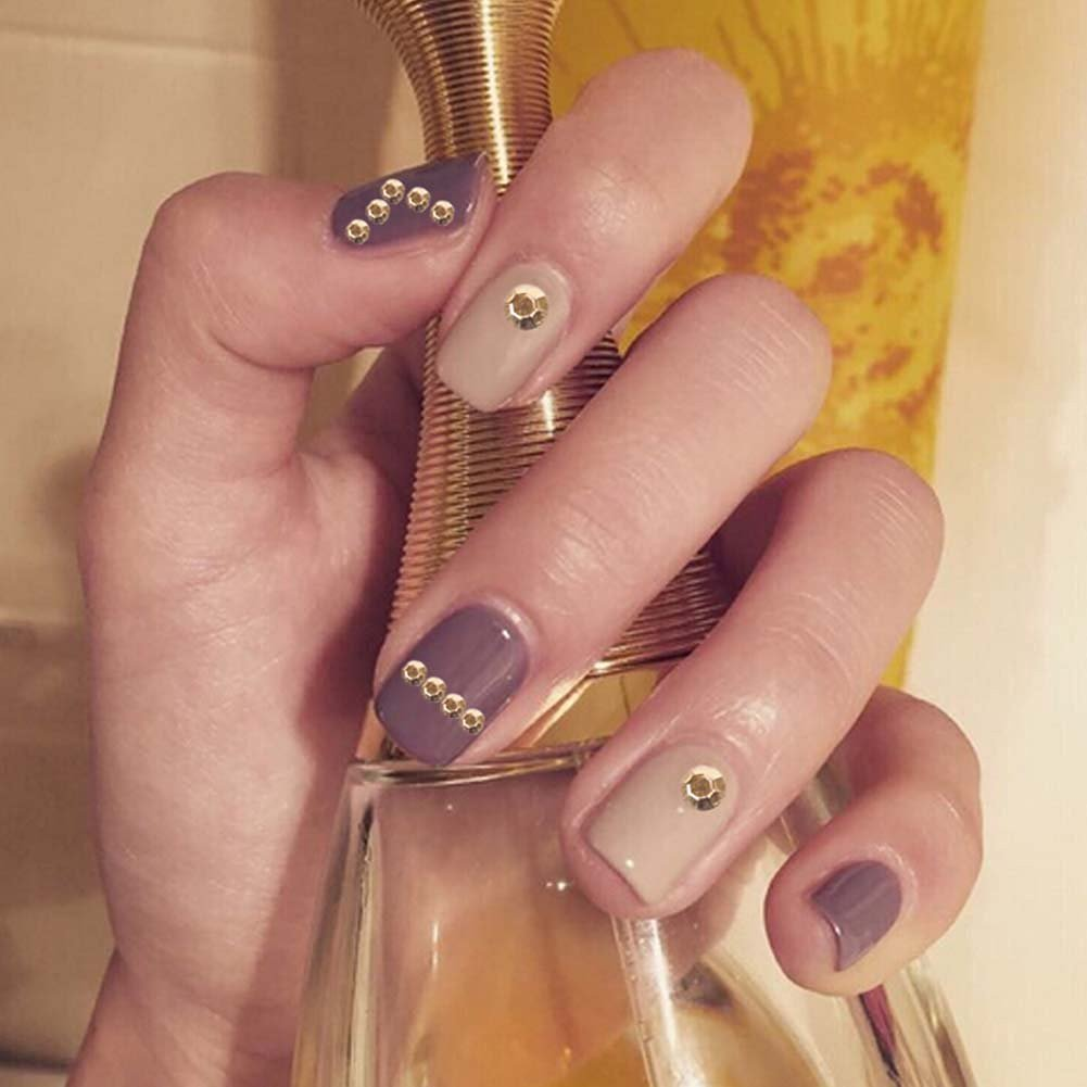 philna12, brillantes 3d Purpurina para Uñas, de acrílico dorado, accesorios para Nail Art: Amazon.es: Hogar