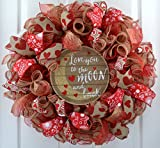 This Valentine wreath will make a wonderful addition to your indoor or outdoor home decor or a thoughtful gift for that special person or a special occasion.Use it for your own valentine decor, decoration for a Valentine party or a gift for ...