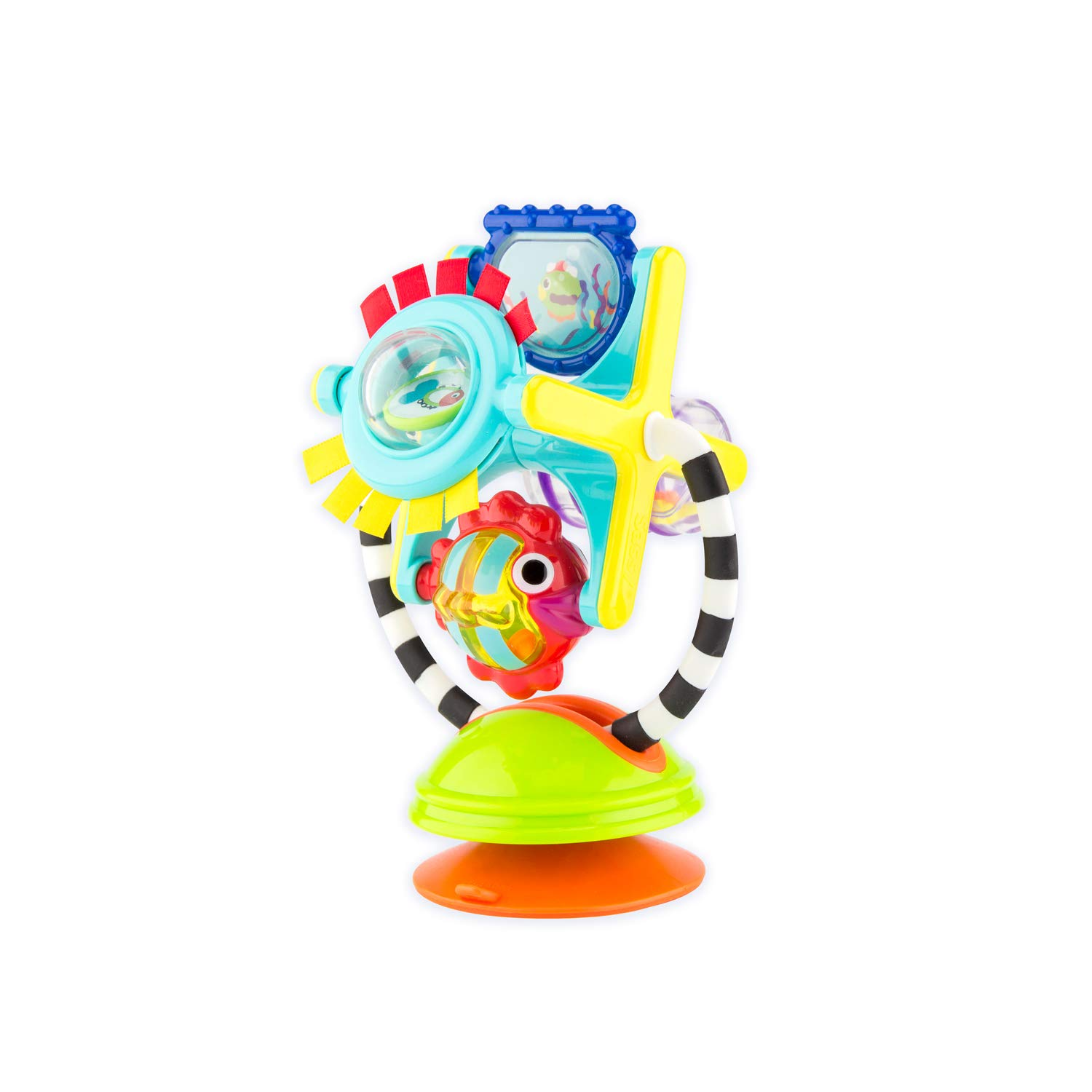 Sassy Fishy Fascination Station - 6+ Months 2-in-1 Toy Suction Cup Removable Base For High Chair Or Floor Play So Baby Can Explore The Many Features Of This Station