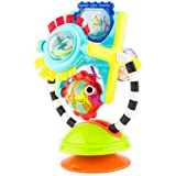 Sassy Fishy Fascination Station 2-in-1 Suction Cup High Chair Toy | Developmental Tray Toy for Early Learning | for Ages 6 Mo