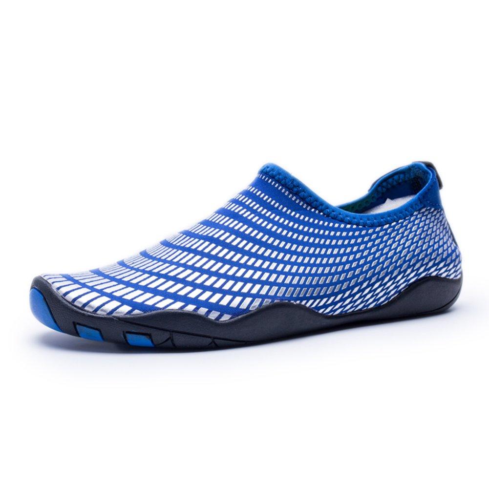 751afc991f7ac Bigcount Hombres Mujeres Zapatos acuáticos de agua Secado rápido descalzo  Calcetines de piel con orificios de drenaje para nadar en la playa Surf Gym  Blue ...