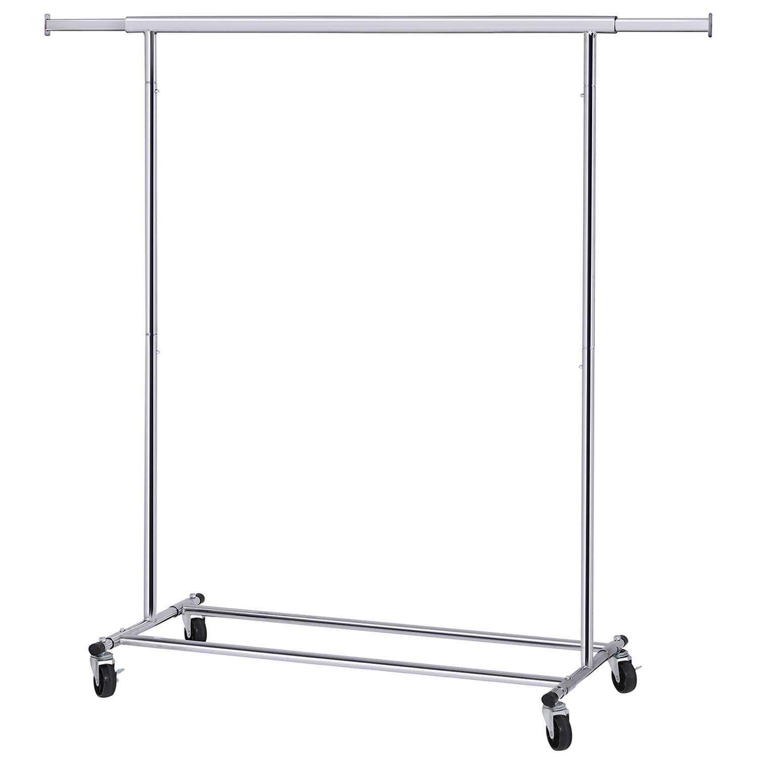SONGMICS Clothes Rack on Wheels, Heavy Duty Garment Rack with Extendable Hanging Rail, Holds up to 200 lb, Collapsible Clothing Rack UHSR13S by SONGMICS