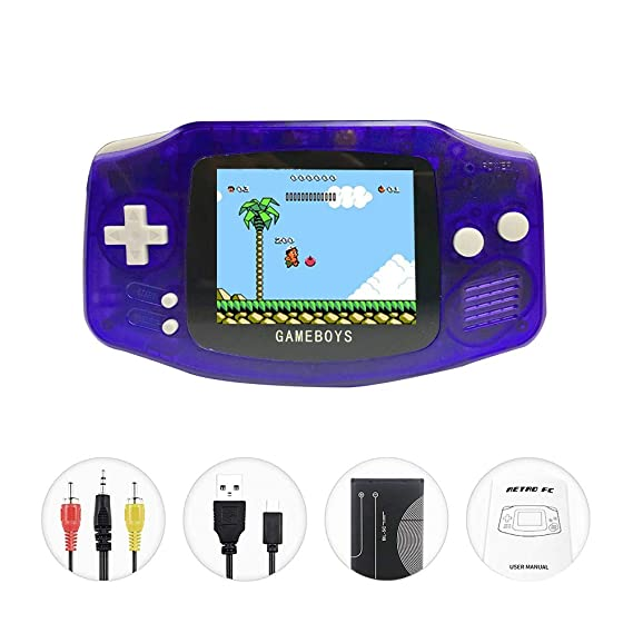 Faithpro Handheld Game Console With Built In 400 Games, 2 Player 3 Inch Screen Usb Charger Supports Tv Output Retro Fc Video Game Console, Good Gifts For Kids And Adults by Faithpro