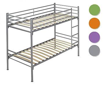 Due-home Litera metalica para colchon 90x190 color gris: Amazon.es: Hogar