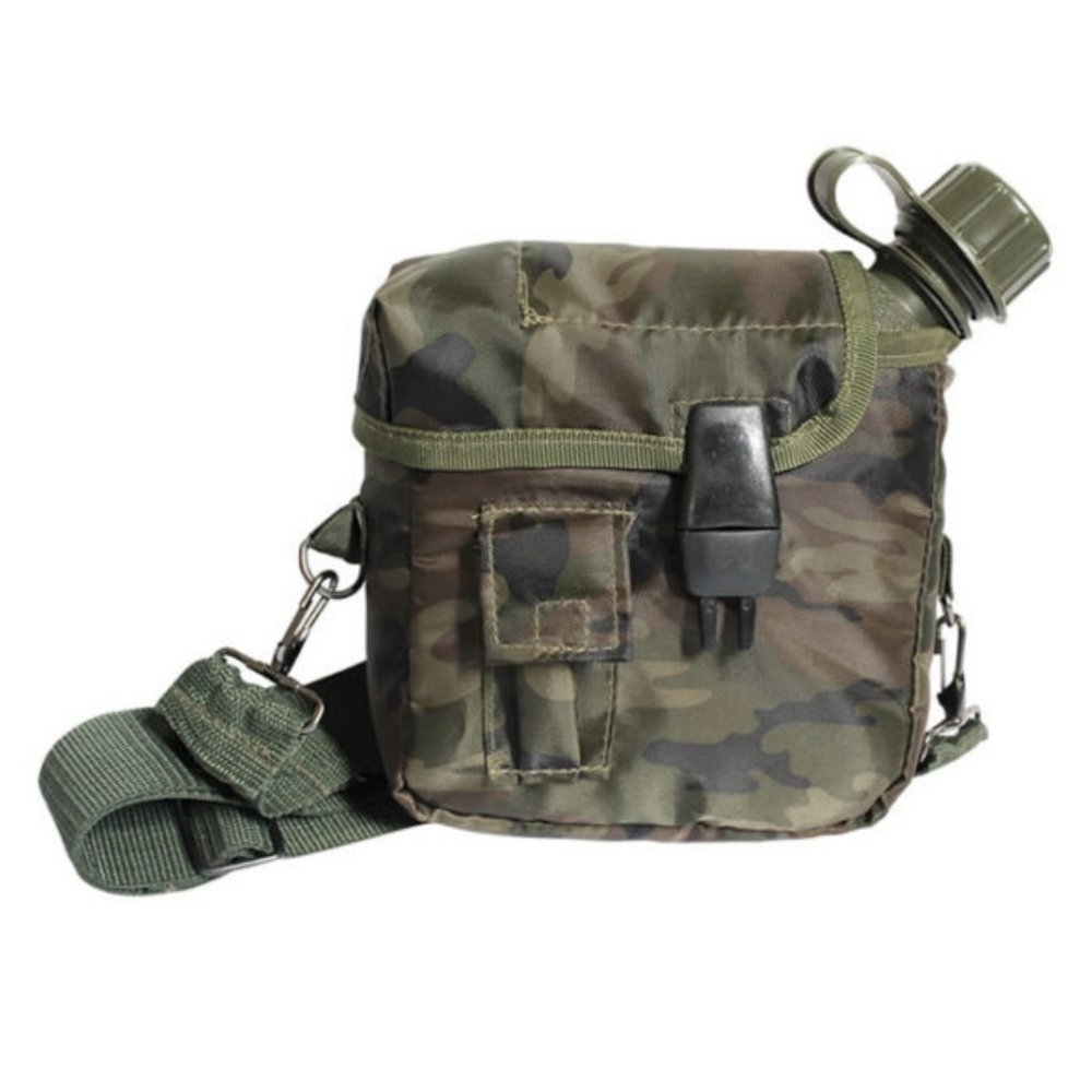 NTK ARK OD Military Style Scout Squared Camouflage Insulated Cover Canteen 2qt Capacity