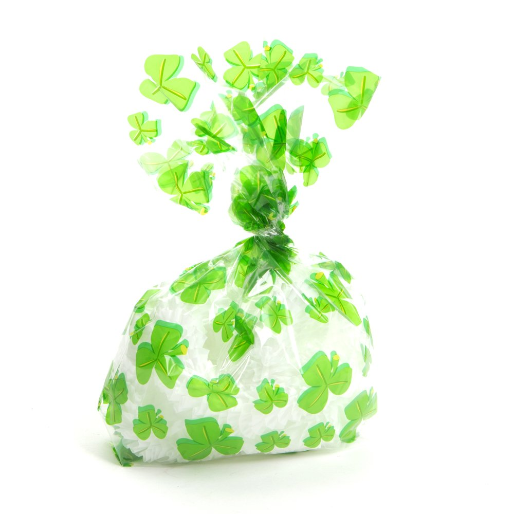 Cellophane Shamrock Goody Bags
