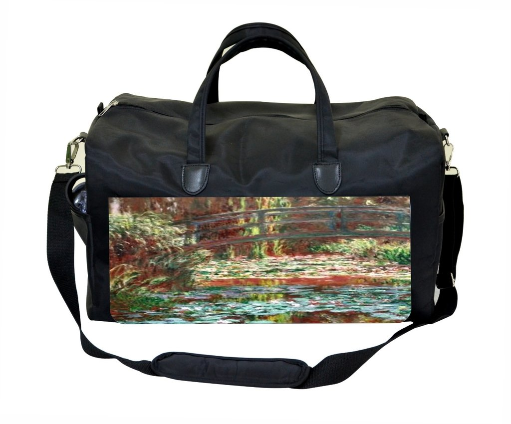 Claude Monets Bridge Over a Pond of Water Lily Irises Therapist Bag