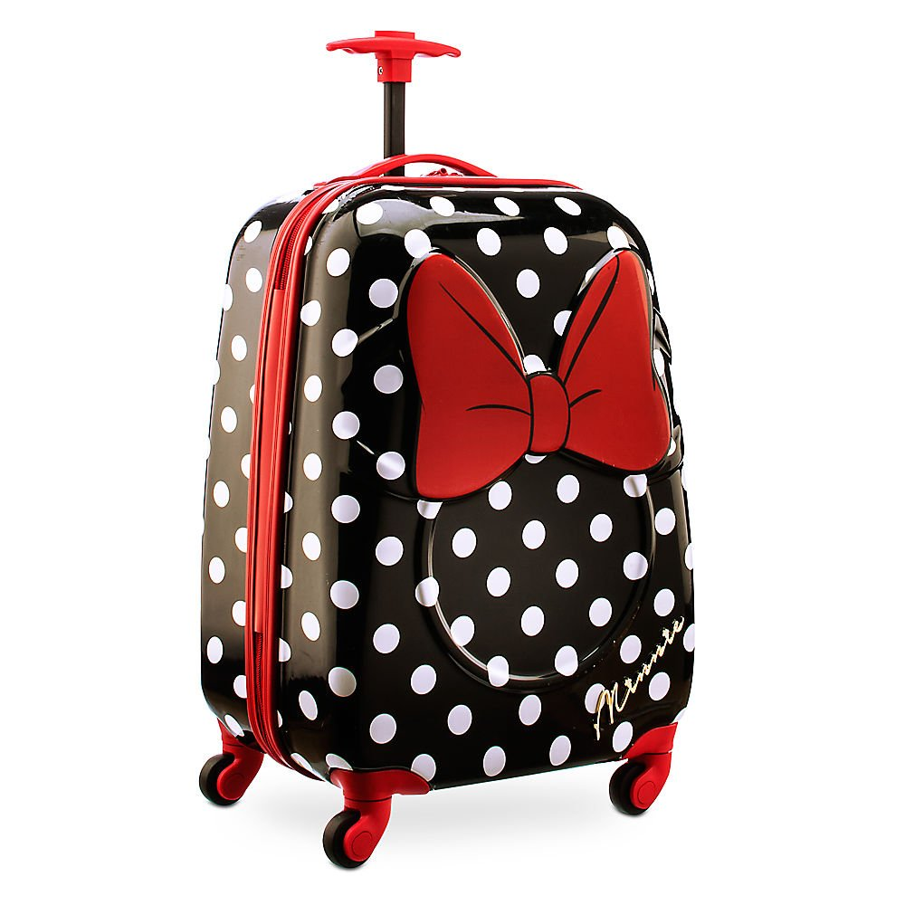 Disney Store Minnie Mouse Hard Shell Rolling Luggage Case/Carry-On Suitcase
