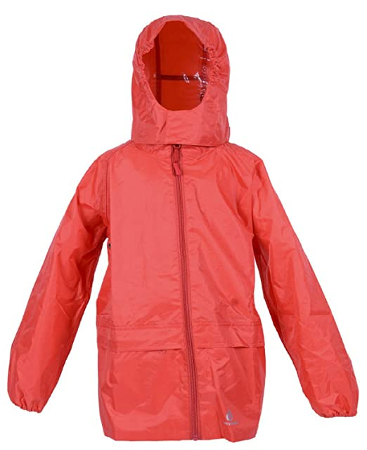 310f0d4f318d DRY KIDS Packaway Waterproof Jacket. Unisex Coat Ideal for Outside Play.  Matches DryKids Overtrousers DK002  Amazon.co.uk  Clothing