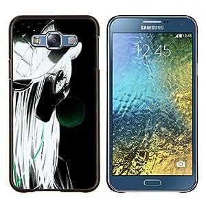 EJOOY---Cubierta de la caja de protección para la piel dura ** Samsung Galaxy E7 E700 ** --Grunge Estilo Retrato Perfil Rubio Gafas