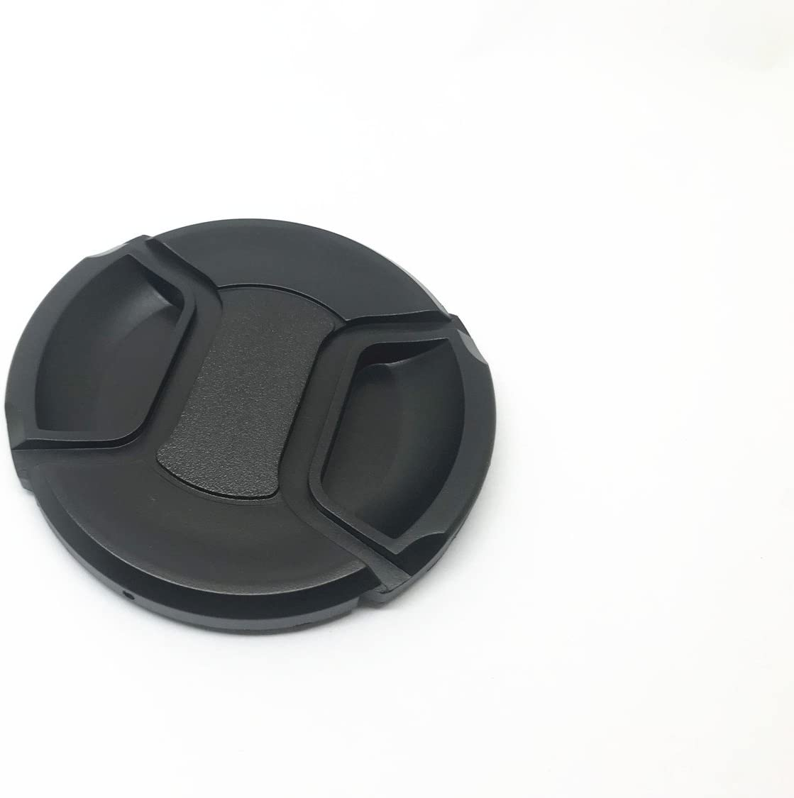 Center Pinch Snap-on Front Cap 49mm 3 Pcs Center Pinch Lens Cap and Cap Keeper Leash for Canon Nikon Sony DSLR Camera
