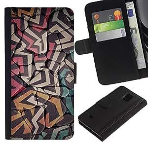 For Samsung Galaxy S5 Mini / Galaxy S5 Mini Duos / SM-G800 !!!NOT S5 REGULAR! ,S-type® Shapes Graffiti Wall Street Art Wall - Dibujo PU billetera de cuero Funda Case Caso de la piel de la bolsa protectora