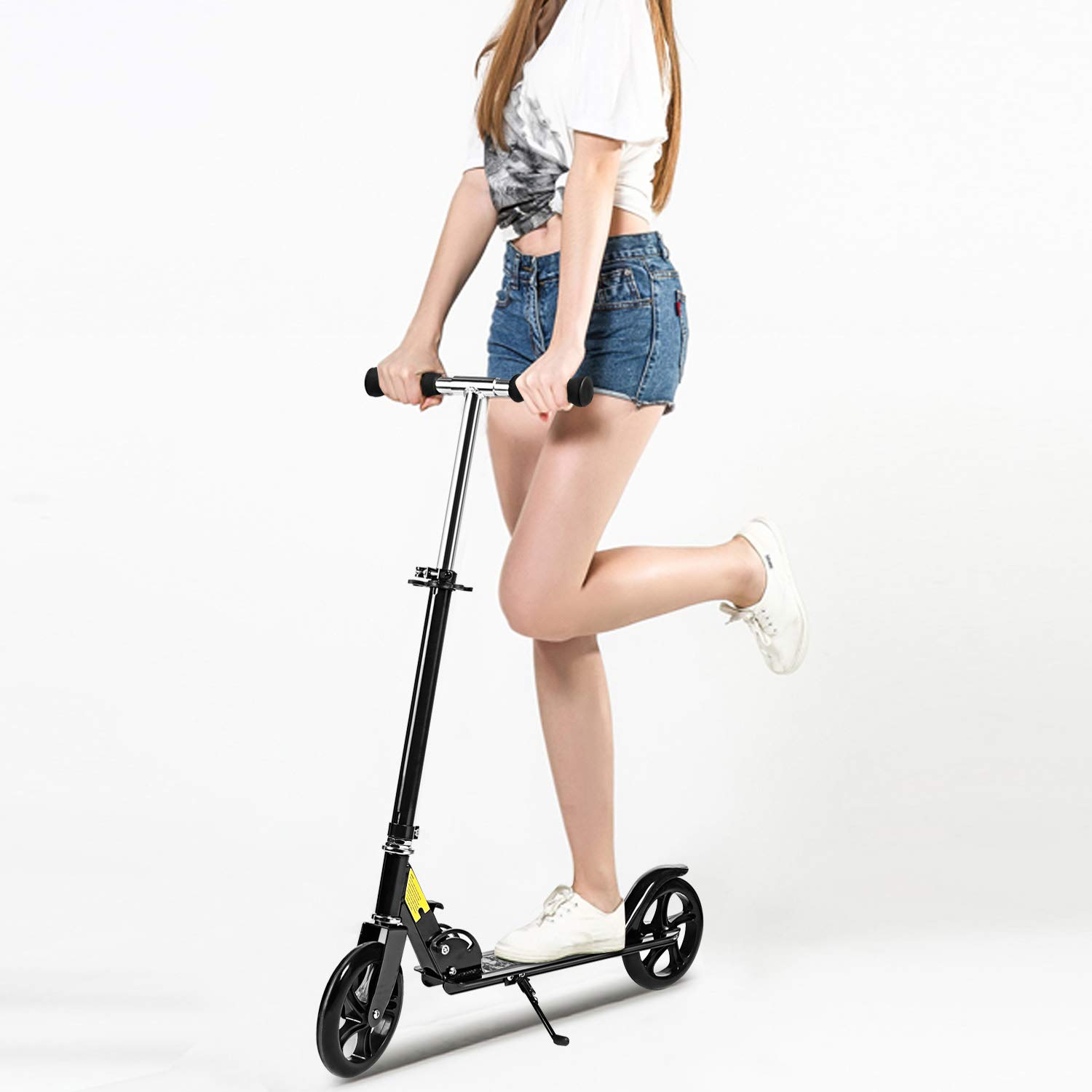 Hikole Scooter for Adult Youth Kids - Foldable Adjustable Portable Ultra-Lightweight   Teen Kick Scooter with Shoulder Strap, Birthday Gifts for Kids 8 Years Old and Up   Support 220 lbs by Hikole (Image #8)
