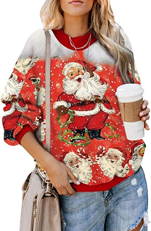 Sumeimiya Womens Letter Printed Sweatshirts Casual/Round Neck Long Sleeve Pullover Fall Lightweight Comfy Blouse