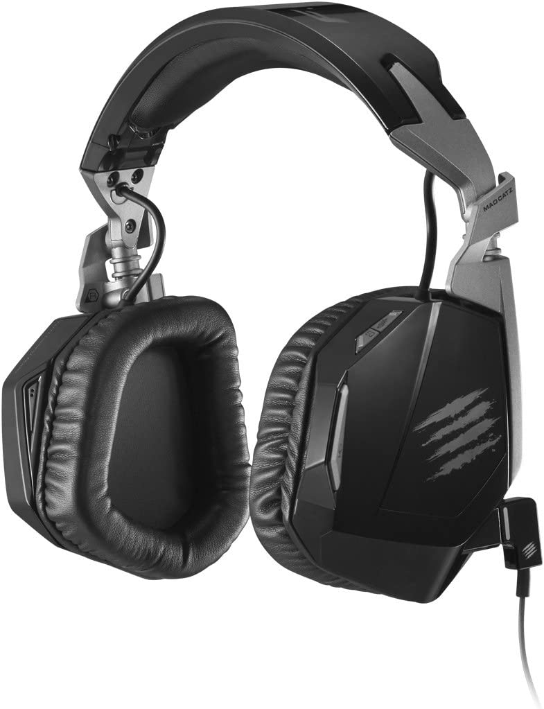 Mad Catz F.R.E.Q.4D Gaming Stereo Headphones Headset with Microphone for PC, Mac, and Smart Devices