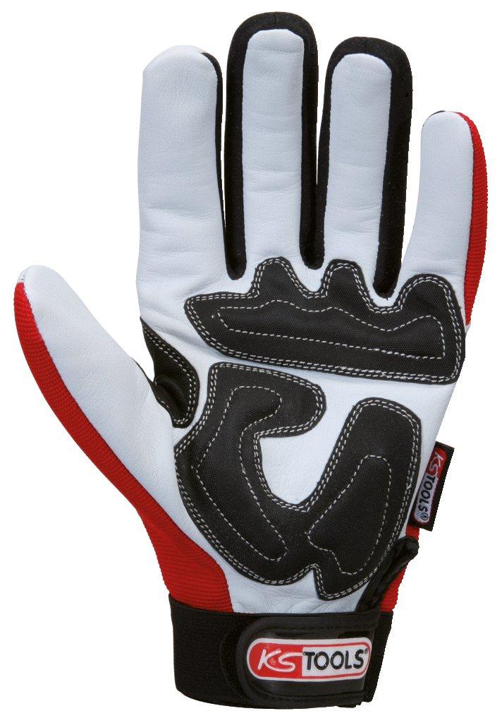 KS Tools 310.0250 Large Gloves Leather Grip