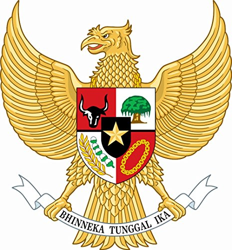 Indonesia Coat Of Arms - Decal, Bumper Sticker