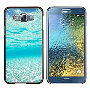 Stuss Case / Funda Carcasa protectora - Light Blue Sea Under Water Paradise Waves - Samsung Galaxy E7 E700
