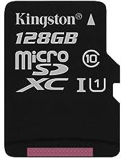 Kingston SDCS/128GBSP - MicroSD Canvas Select velocidades de UHS-I Clase 10 de hasta 80 MB/s Lectura (sin Adaptador SD)