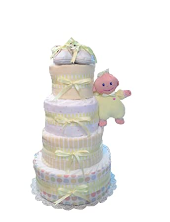 Amazon.com: Bienvenida bebé – Baby Shower pañal Pastel Set ...