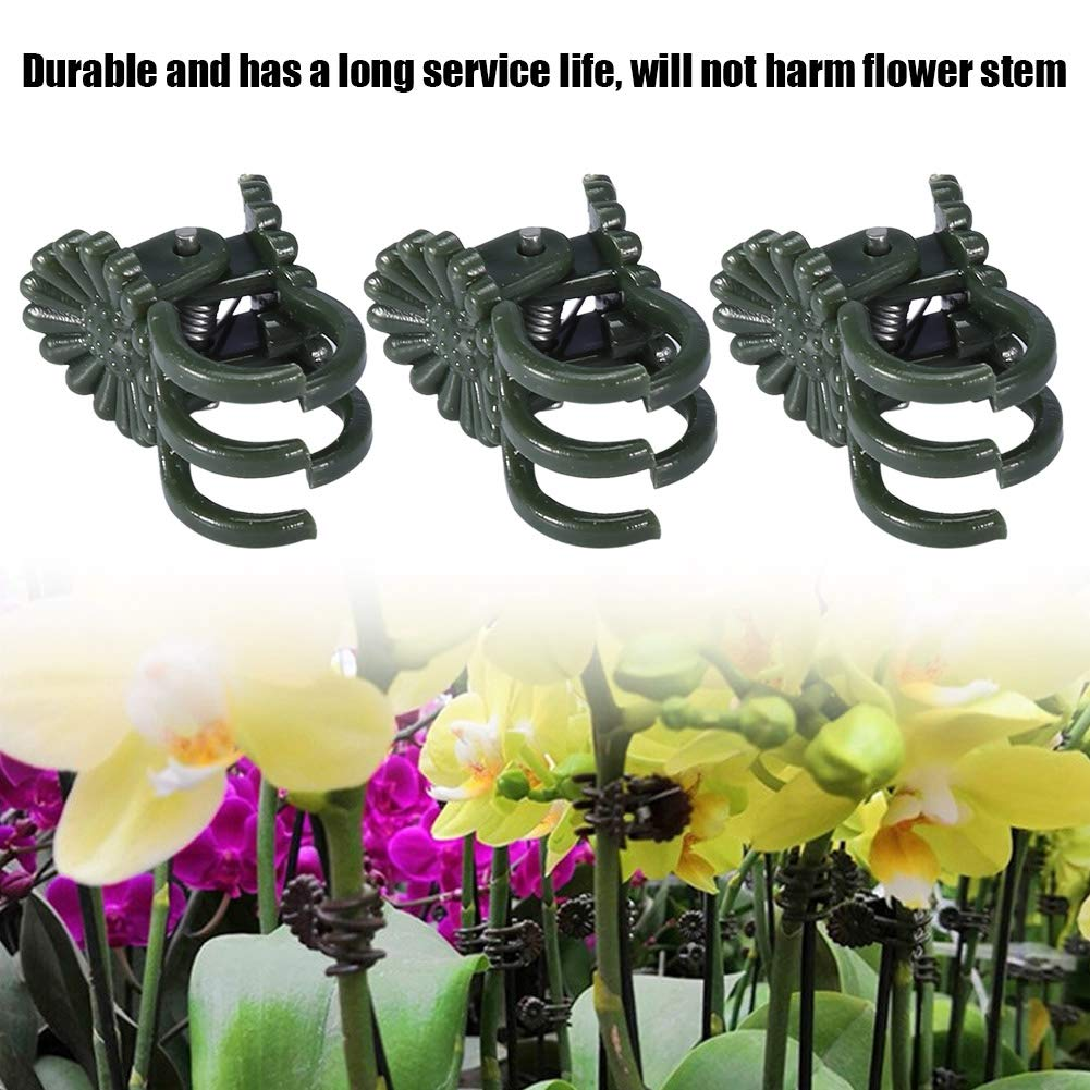 Mini Plant Support Clips Orchid Daisy Plant Support Clips for Supporting Stems Garden Plant Clips to Keep Plant Neat 40PCS