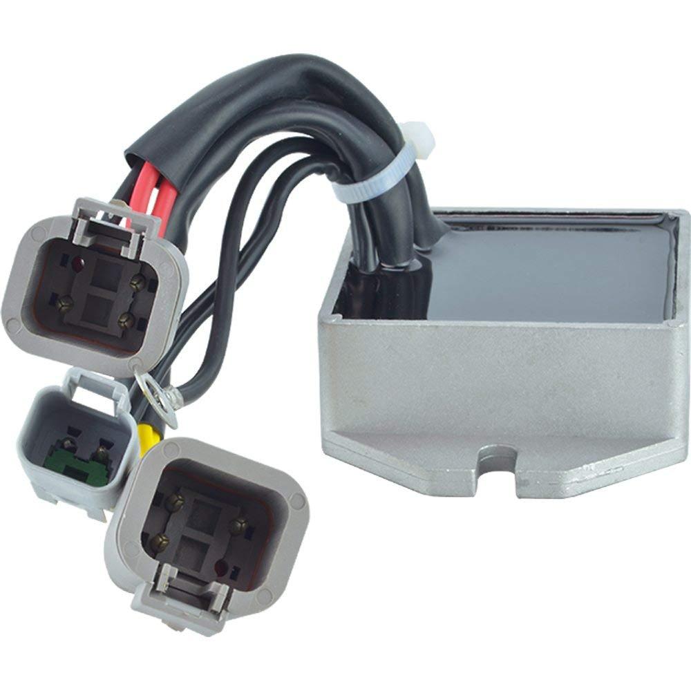 DB Electrical New 230-22184 Voltage Regulator//Rectifier for 12V Ski-Doo GTX 600 HO SDI 2005-2008 Legend 800 SDI 2004 Mach Z X 2007 515-175-717 515-176-023 515-176-243 GTX 600 Sport HO SDI 2007