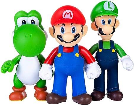 AINOLWAY 3pcs / Set Super Mario Toys - Figuras de Mario y Luigi ...