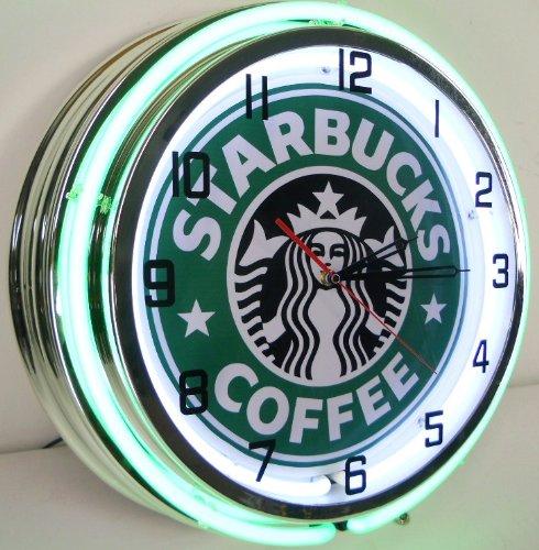 Starbucks Coffee 18 Quot Neon Light Wall Clock Espresso Cafe