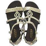 Guess Women's Crive Logo Flat Sandals - Light Brown