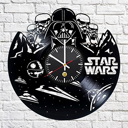 Space Hero Record Wall Clock - Get unique of office room wall decor - Gift ideas for boys and girls – Fantasy Movie Art (Princess Leia Costume Ideas)